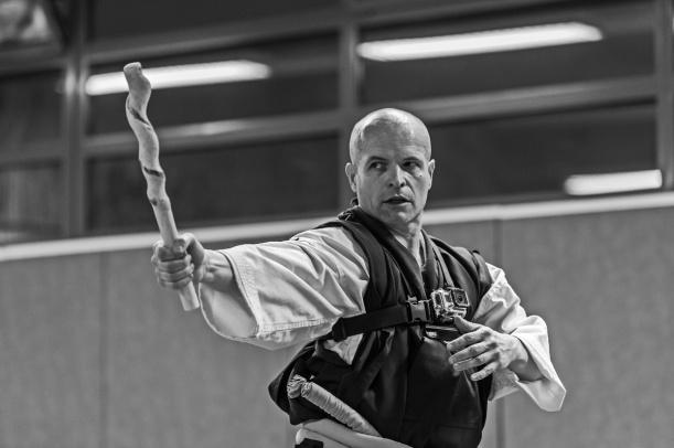 Festival des arts martiaux de Jouy le Moutier, Fabrice notre professeur lors des répétitions - © R. Hitmi